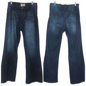 Dear John Wide Leg Trouser Dark Wash Blizzard Jean